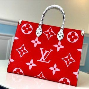 Printed double-sided waterproof canvas bag M44569